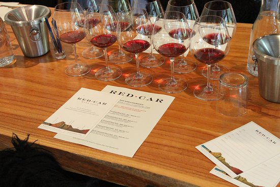Red Car Winery Tasting Room: The lineup