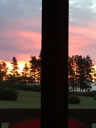 Dingwall, Canada: Sunrise from the cabin, and one of the beach at Markland