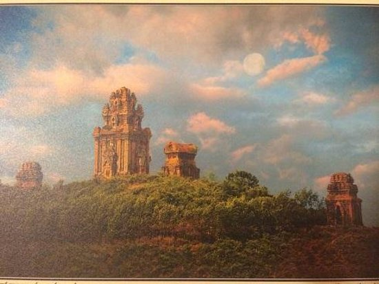 Binh Dinh Province, Vietnam: A cloudy day at Banh It tower