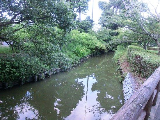 Kikugawa, Japonia: 代官屋敷は水堀で囲まれている