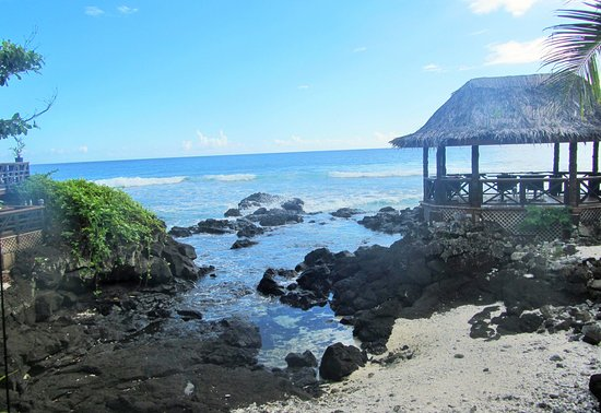Upolu, Samoa: View from the restaurant