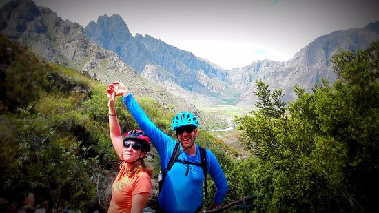 Franschhoek, Güney Afrika: Mountain Biking in the Berg River Catchment Area on the Snake Alley route