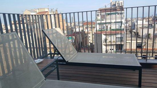 EuroPark Hotel: 10th floor penthouse room balcony