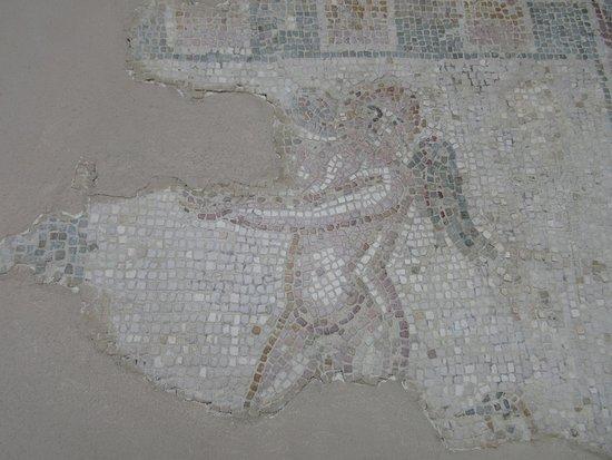 Baia, Italien: Particolare di un mosaico all'interno del castello