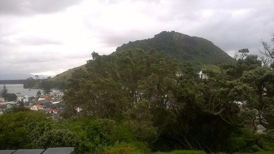 Mount Maunganui, New Zealand: view of the mount from Mount Durry