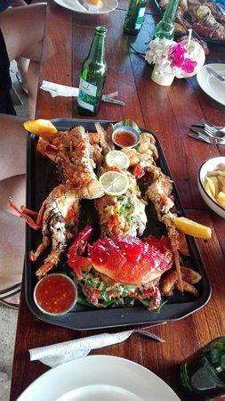 Port Havannah, Vanuatu: Seafood platter from the onsite restaurant