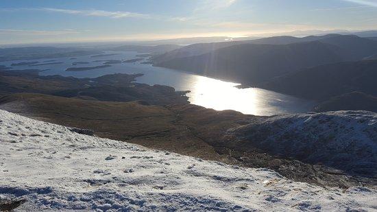 Rowardennan, UK: Onderweg naar de top