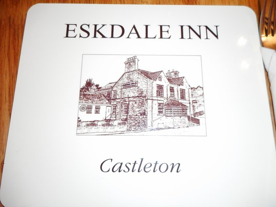 Castleton, UK: The place mat with the pub's name on it.
