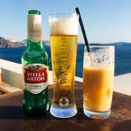 218 Degrees Cafe Restaurant: beer and seasonal fruit juice