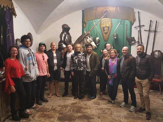 Belleek Castle Museum: Tour group