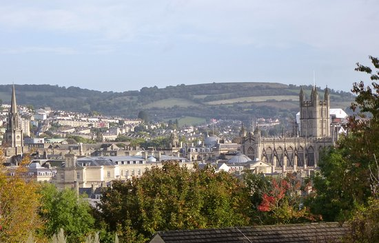 Paradise House: View over Bath from the garden