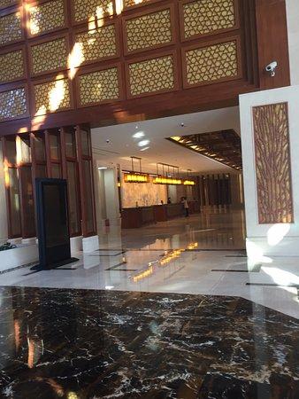 Wutai County, Chine : REcepción del hotel en el edificio principal