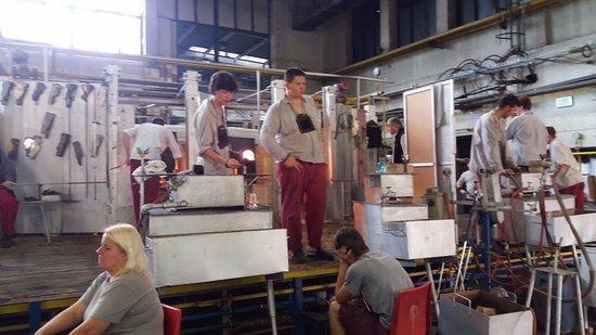 Moser Glass: Interior da fábrica