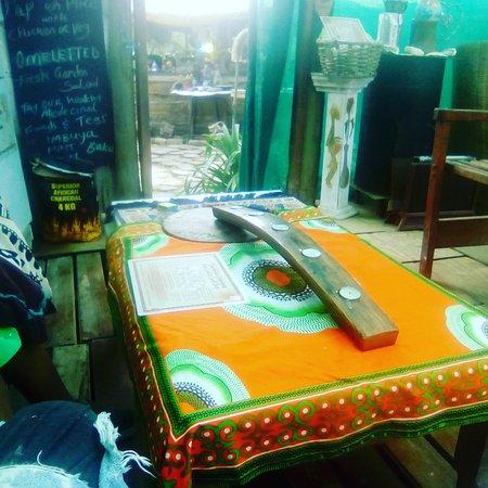 Wilderness, Sydafrika: The bush café has new changes