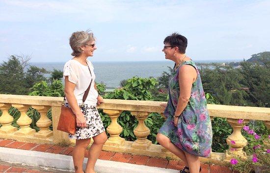 Ms. Elsa & Ms. Askholm in Bao Dai villa, Hai Phong