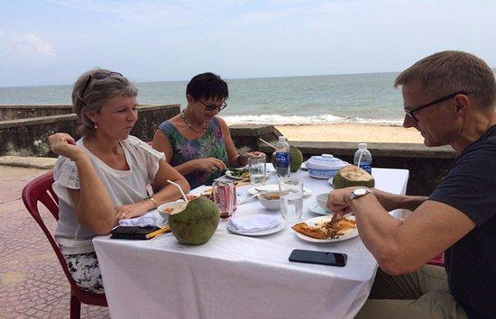 Mr/Ms. Askholm and Ms, Elsa in Do Son beach, Hai Phong, Vietnam