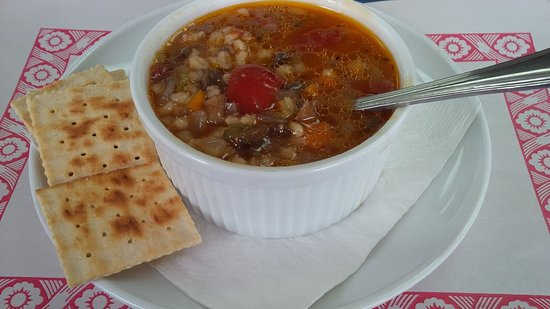 Fort Coulonge, Canada: Hearty Beef and Barley Soup.