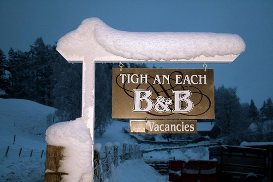 Newtonmore, UK: Snowy Sign
