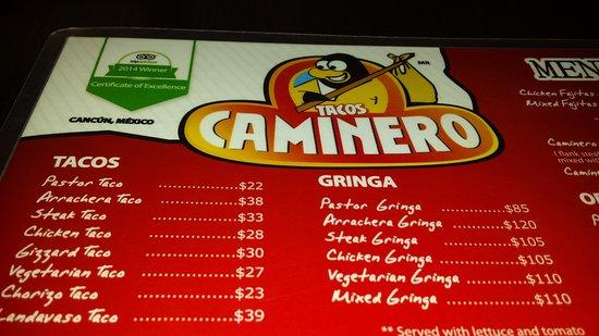 Quintana Roo, Mexico: tacos - especialidade da casa