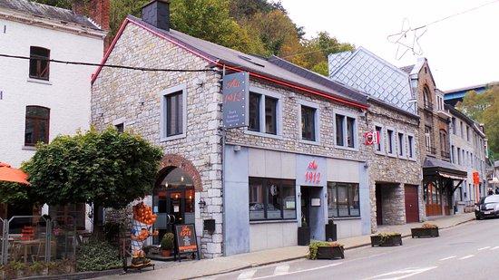 Sougne-Remouchamps, Βέλγιο: Restaurant Au 1912 naast de grotten van Remouchamps