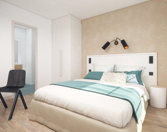 Hotel Les Cretes Blanches: Chambre avec lit double