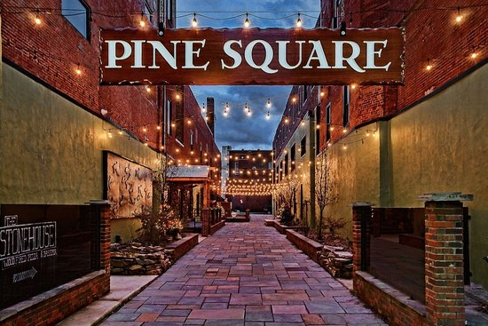 Williamsport, PA: Our beautiful courtyard is a local favorite for gathering with friends after a long work day.