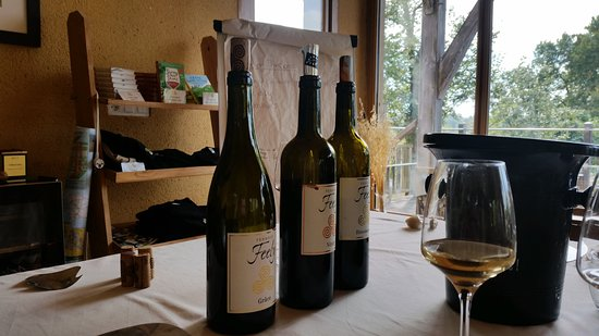 Saussignac, Francia: Three of the excellent wines