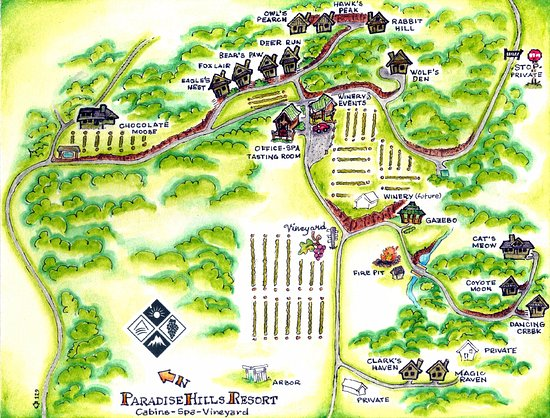 Paradise Hills Resort & Spa: Artistic map of the retreat