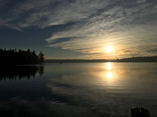 Lac du Flambeau, WI: Sunrise over White Sand Lake