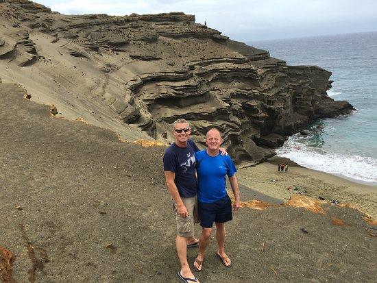 Holualoa, HI: Day 2, Green Sand Beach, Naalehu