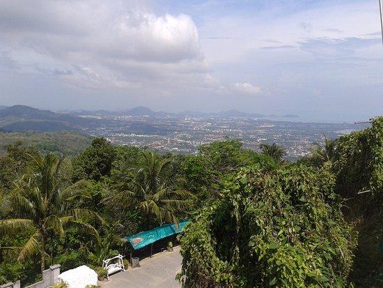 Chalong, Ταϊλάνδη: Вид с горы Храма.