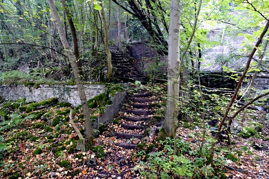 Penrith, UK: Steps to old mine workings