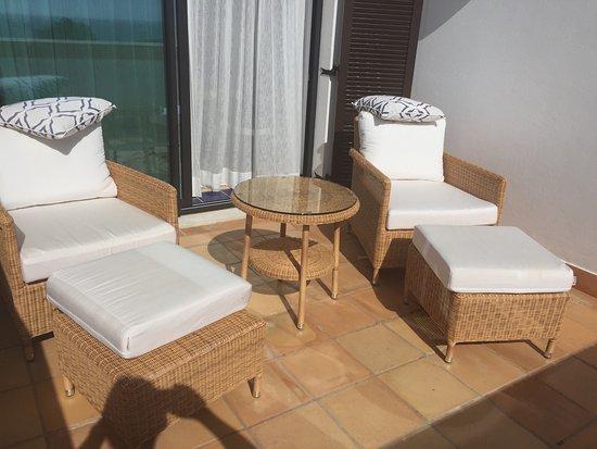 Pine Cliffs Hotel, a Luxury Collection Resort: Balcony overlooking Atlantic Ocean