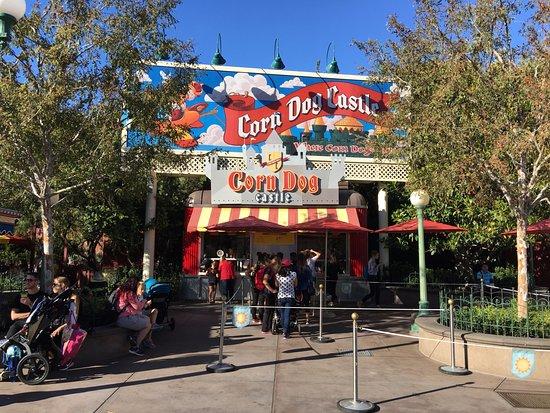 Corn Dog Castle: It is located next to Goofy's Flight School