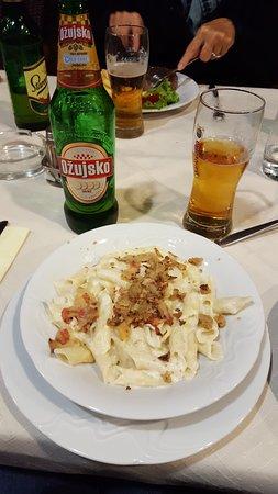 Fazana, Croatia: Noodles with truffles!