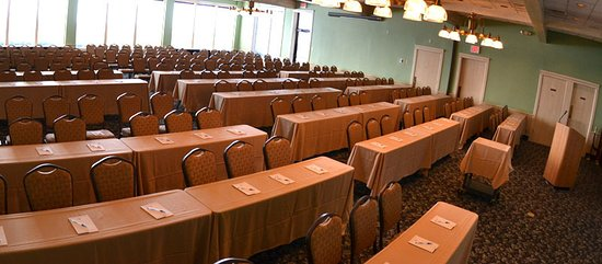 The Egg Harbor Room is the largest of the resort's banquet rooms.