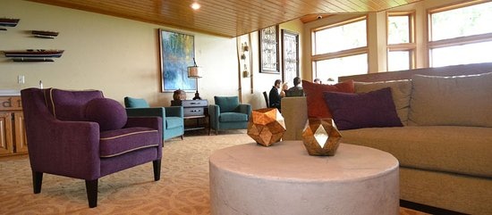Egg Harbor, WI: Par6t of the two-story lobby in the Navigator building.