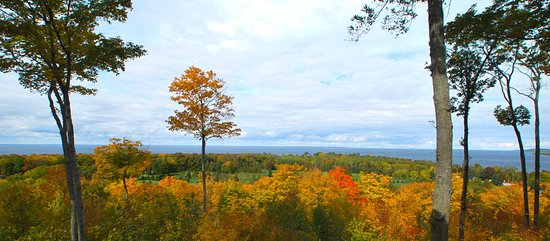 Egg Harbor, WI: Views overlook the Bay of Green Bay.