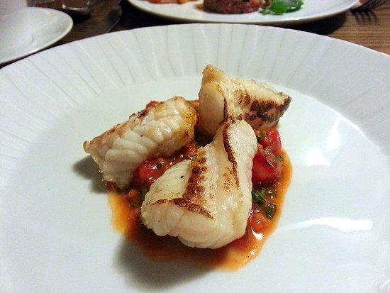 Abergavenny, UK: Monkfish & tomato...