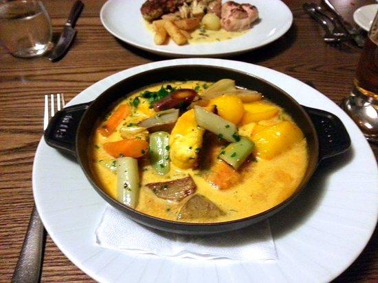 Abergavenny, UK: Fish stew and saffron...