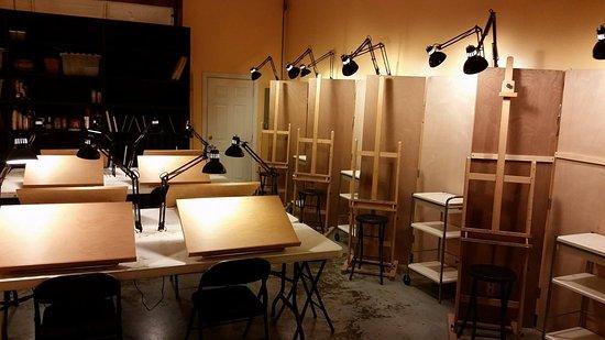 Midlothian, Βιρτζίνια: Teaching studio.
