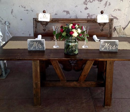 Aurora Cellars: Handmade Farm Tables