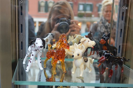 Lido di Venezia, Italia: Figuritas de cristal de Murano