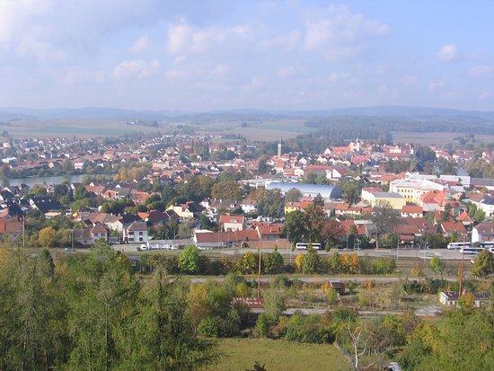 Telc, República Checa: Krásný výhled na Telč