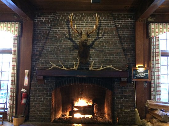 ‪‪Quinault‬, واشنطن: Fireplace in Lobby‬
