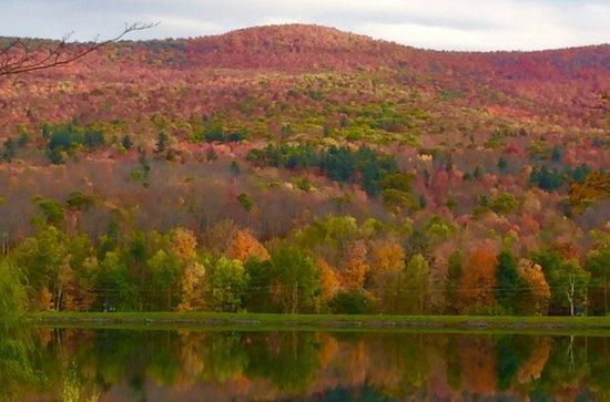 Hunter, NY: View from Pine Lane across reservoir