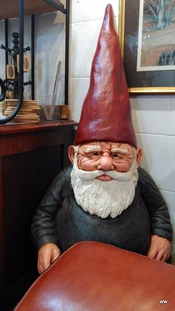 Dunster, UK: Ulph the Elf invites you to relax in a comfy chair with a cuppa after exploring the village.