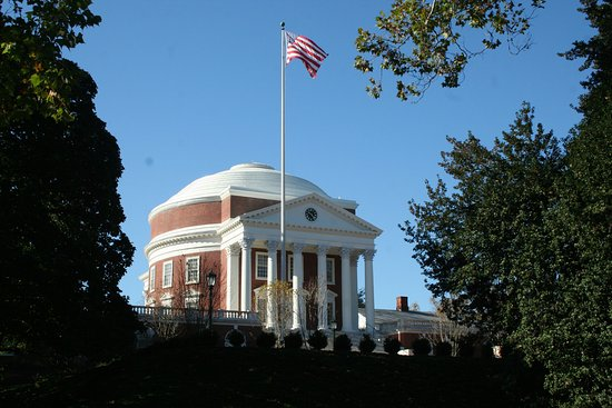 University of Virginia Rotunda Tour: Front side of the Rotunda