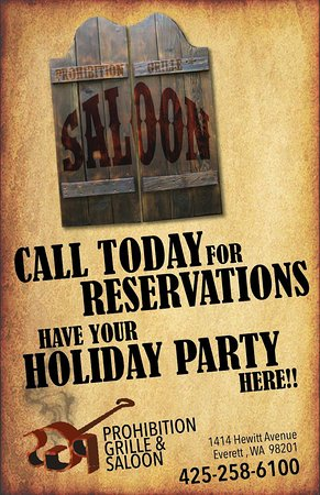 Everett, WA: Reservations for Holiday parties and every night dinner plans. Call today!