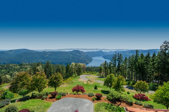 Malahat, Kanada: View from Penthouse Suite of Villa Cielo